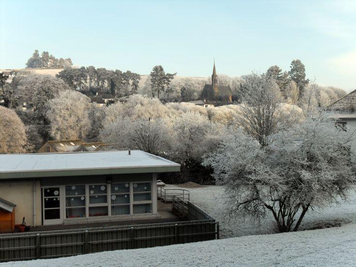 Avoch Church, in the big freeze  2009.