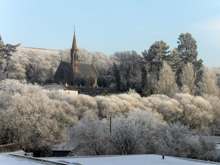 Avoch Church in the frost