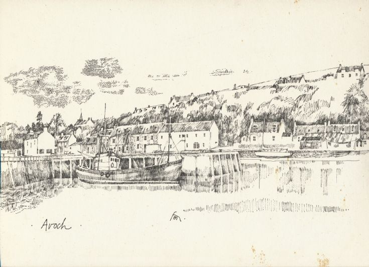 Print of Avoch Harbour