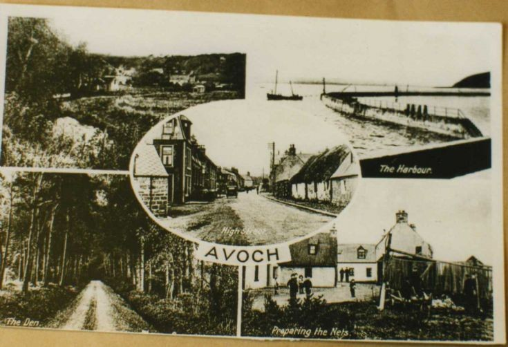 Multiview postcard of Avoch