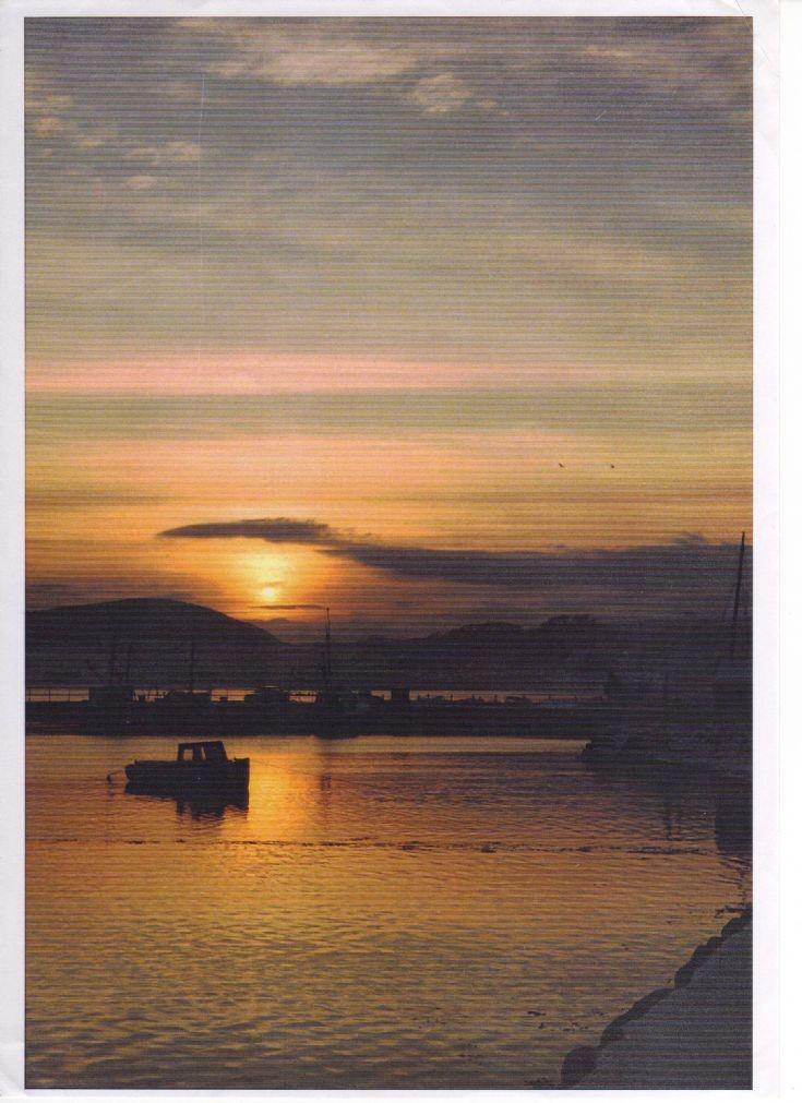 Sunset Avoch Harbour