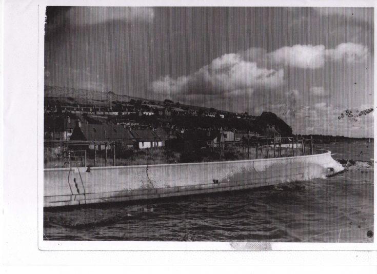 Avoch Sea Wall 1950