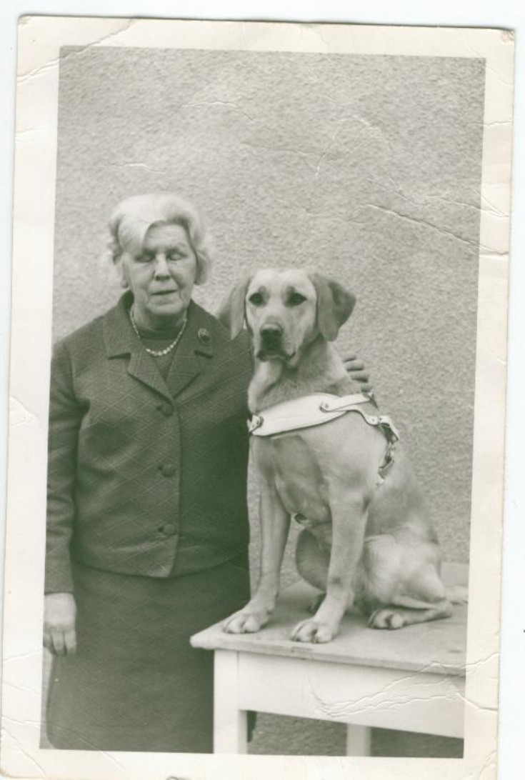 Annie with her guide dog