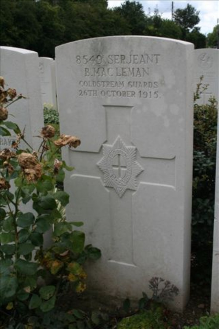 Benjamin McLeman's Grave in Lillers