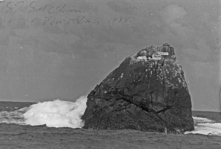 Tom Maclean on Rockall.   1984