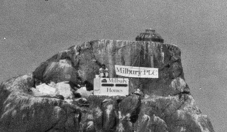 Enlargement Tom Maclean on Rockall.  1984