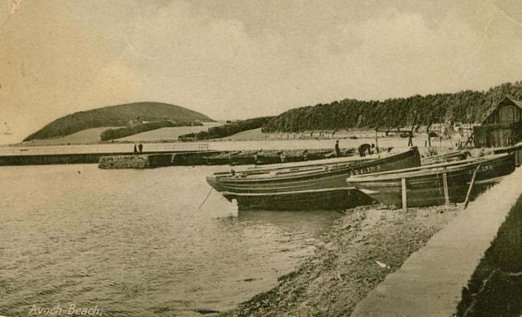 Wooden boats on Avoch Beach