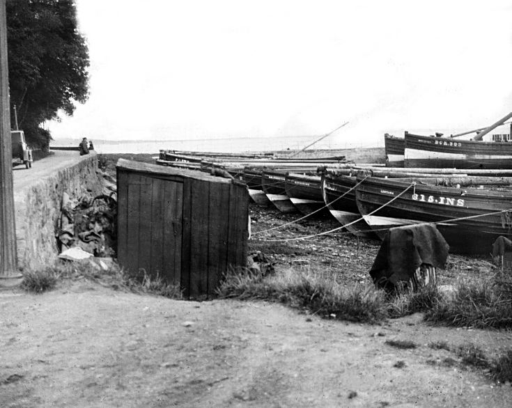 Avoch Harbour and the road to Fortrose - c 1925