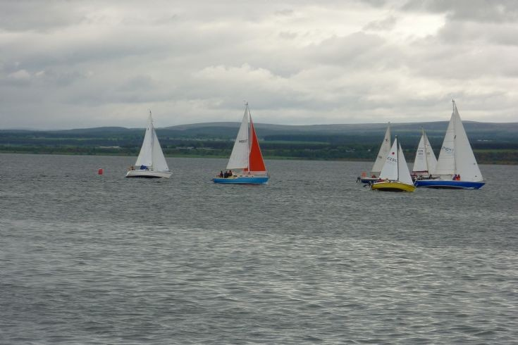 Yachts off Avoch harbour