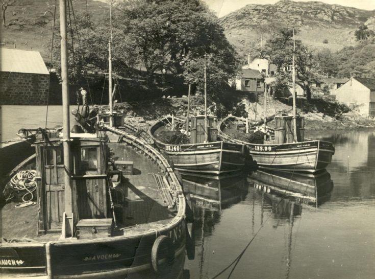 Avoch ringnet boats in Gairloch.