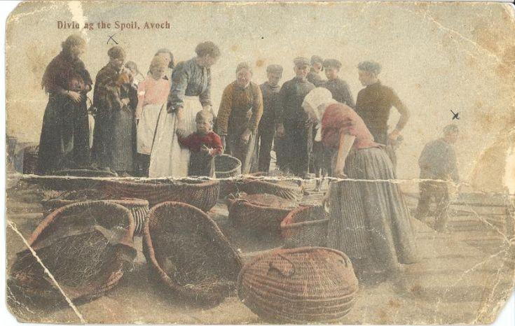 Dividing the Spoil, Avoch beach.
