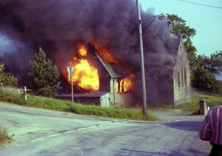 Avoch old school fire.  c1979?